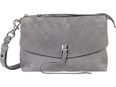 Rebecca Minkoff Darren Top Zip Shoulder (Steel) Handbags