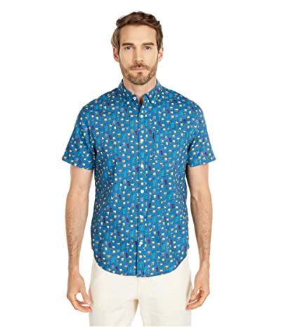 Original Penguin Drink Print Shirt (Deep Water) Men
