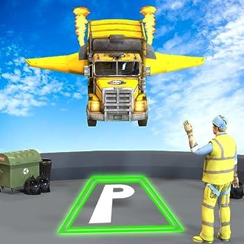 Flying Car Garbage Truck Stunt Simulator  Trash Cleaner