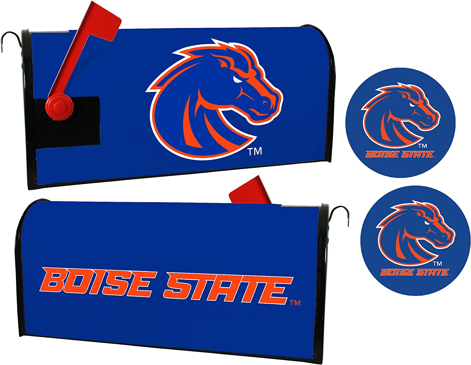 Boise State Cheap mail order specialty store Broncos Magnetic Sticker Mailbox Set Ranking TOP12 Cover