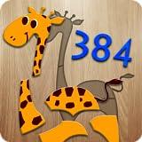 384 puzzles per bambini - gioco educativo per insegnare ai bambini le loro prime parole e la pronuncia