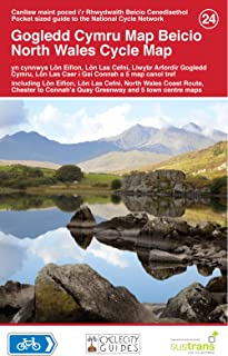North Wales Cycle Map 24: Including Lon Eifion, Lon Las Cefni, North Wales Coast Route, Chester to Connah's Quay Greenway and 5 Town Centre Maps
