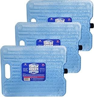 Cooler Shock Ice Packs for Coolers. Thin, Reusable, Long Lasting. Freezer Ice Pack Set for Bags, Insulated Totes. Stays at...