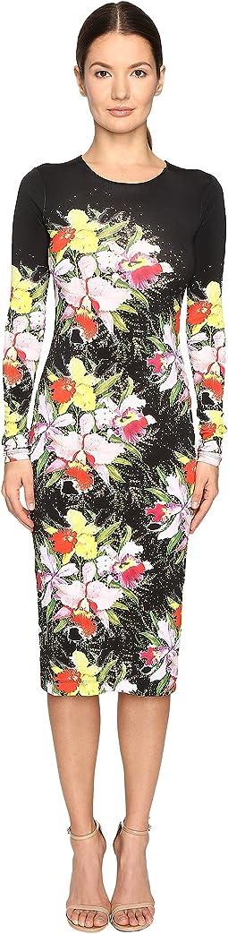 Myra Printed Jersey Dress