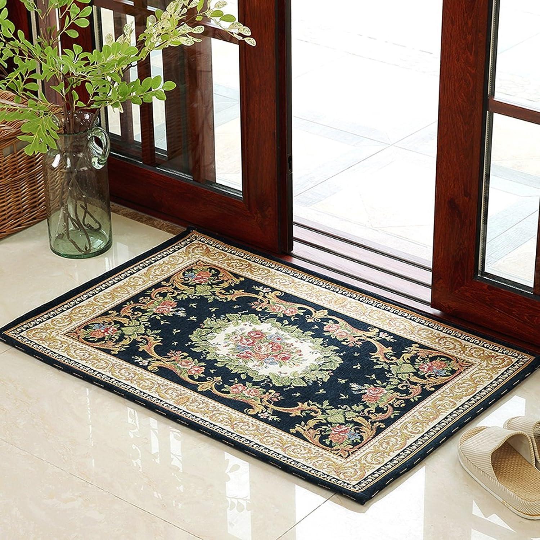 LRW European Doorway Door to Door Entrance Door Hall Carpet Household Living Room Bedroom Mat Water Absorbent Cushion (color   F, Size   70×140cm)