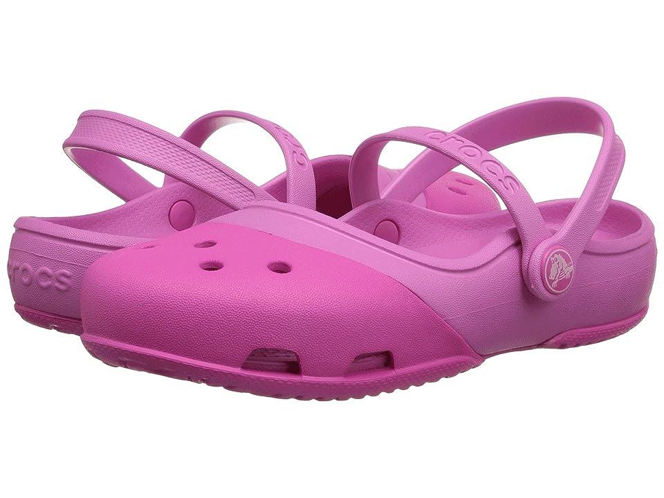 Crocs Kids Electro II MJ (Toddler/Little Kid) (Neon Magenta/Party Pink) Girls Shoes