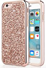 UrbanDrama iPhone 6S Plus Case, iPhone 6 Plus Case, Luxury Glitter Sparkly Rhinestone Hard PC Soft TPU Bumper Anti Slip Shockproof Protective Case for iPhone 6S Plus iPhone 6 Plus 5.5 inch, Rose Gold