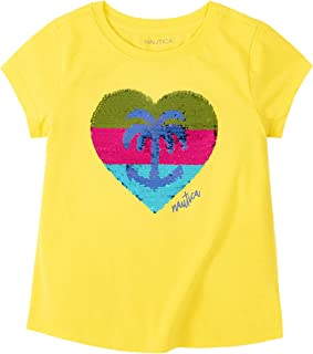 Nautica Girls' Flippable Sequin Tee Shirt, Flip