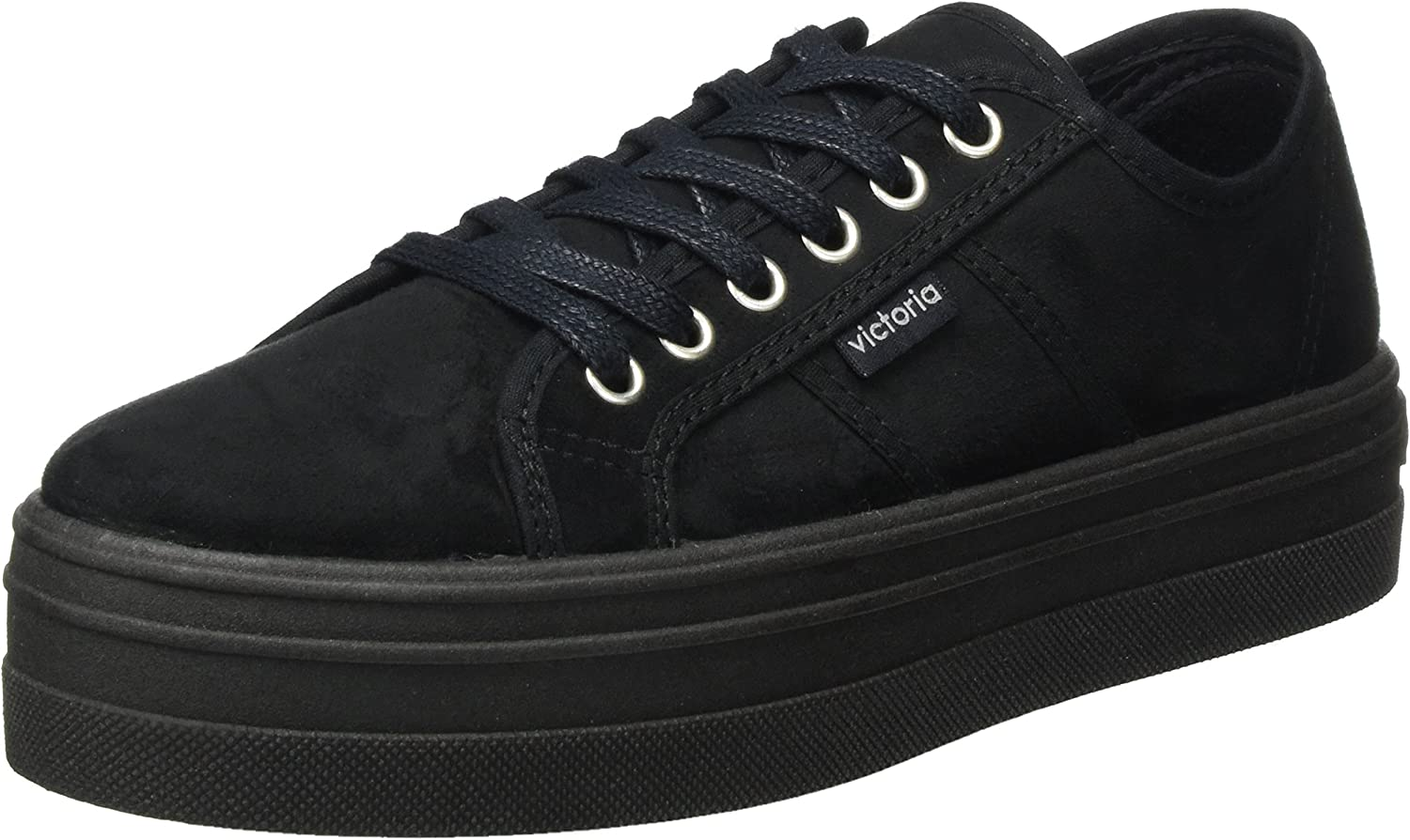 Victoria shoes Woman Low Sneakers with Platform 09205 Black