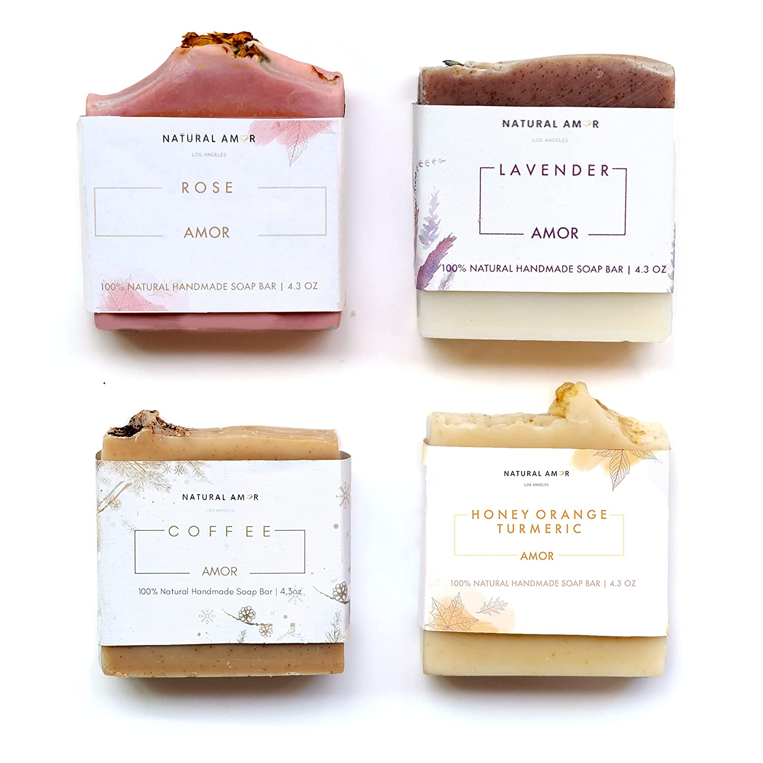 Natural Amor- Handmade Soap Weekly update Bar Col Outlet SALE All 4-Pack Gift set