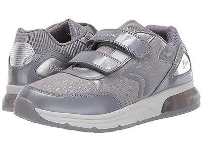 Geox Kids Jr Spaceclub 4 (Big Kid) (Black/Charcoal 2) Girls Shoes