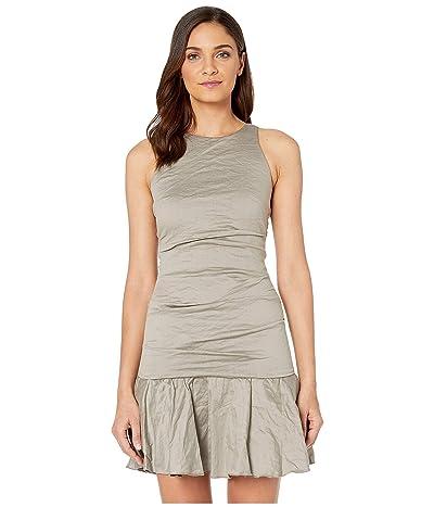 Nicole Miller Ruffle Hem Dress (Taupe) Women