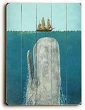 "ArteHouse whale-planked ديكور حائط خشب بواسطة Terry مروحة, 14"" x 20"""