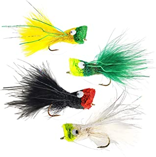 The Fly Crate Deer Hair Bass Popper Bug Fly Fishing Assortment