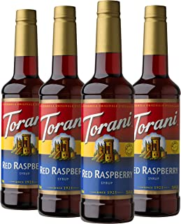 Torani Syrup, Red Raspberry, 25.4 Ounce (Pack of 4)