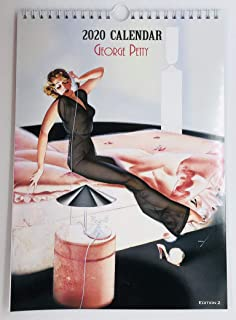 George Petty Edition 2 Wall Calendar 2020 Pin Up Glam Sexy Girl Retro Vintage A4