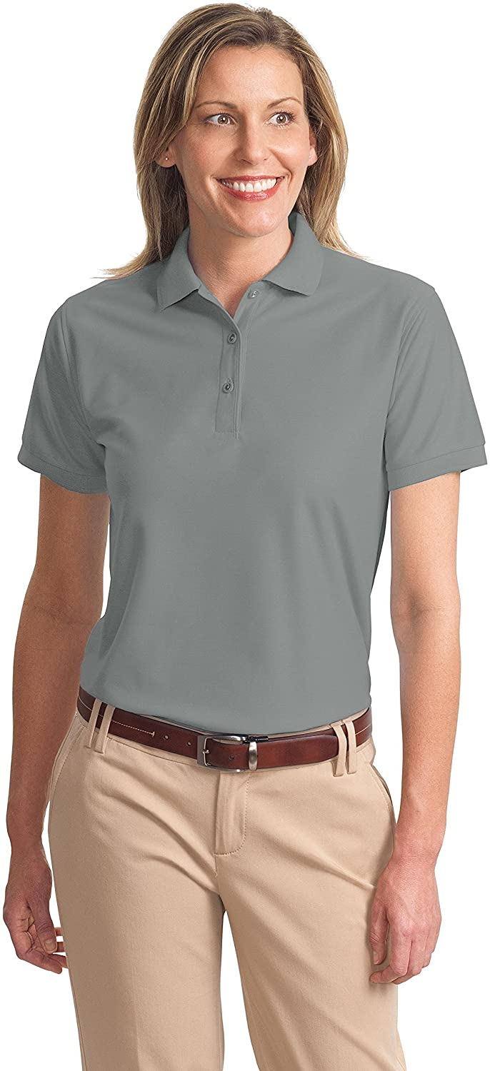 Port Authority L500 Ladies Silk Touch Polo - Cool Grey - 5XL