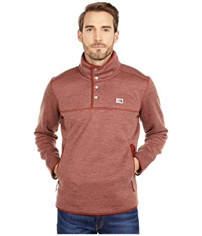 The North Face Sherpa Patrol 1/4 Snap Pullover (Brandy Brown White Heather) Men