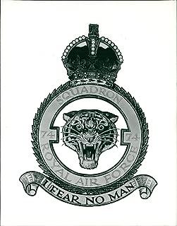 Vintage photo of RAF No. 74 Royal Air Force Squadron Badge