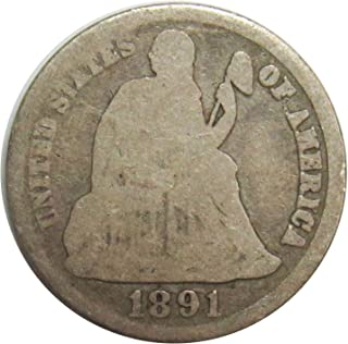 1891 S Seated Liberty Dime 10¢ Good