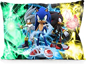 DoubleUSA Sonic The Hedgehog Pillowcases Two Sides Print Zipper Pillow Covers 20x30