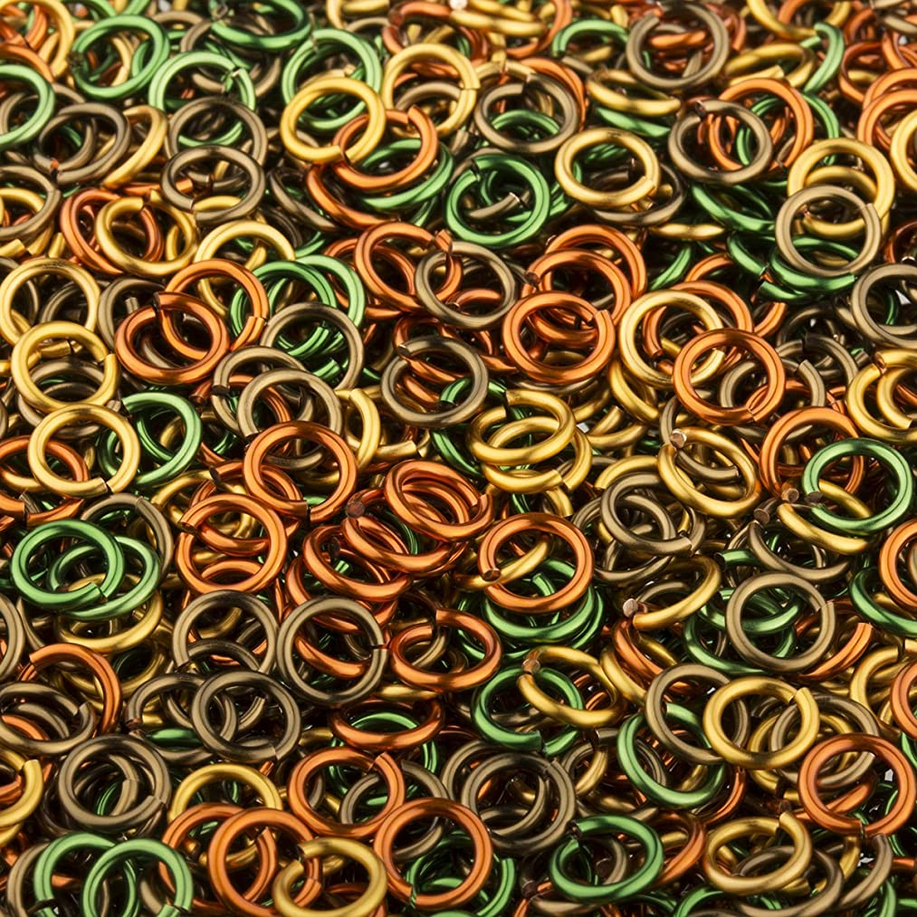 Weave Got Maille, 18-Gauge 3.5mm Fall Enameled Copper Jump Ring Mix - 1 oz