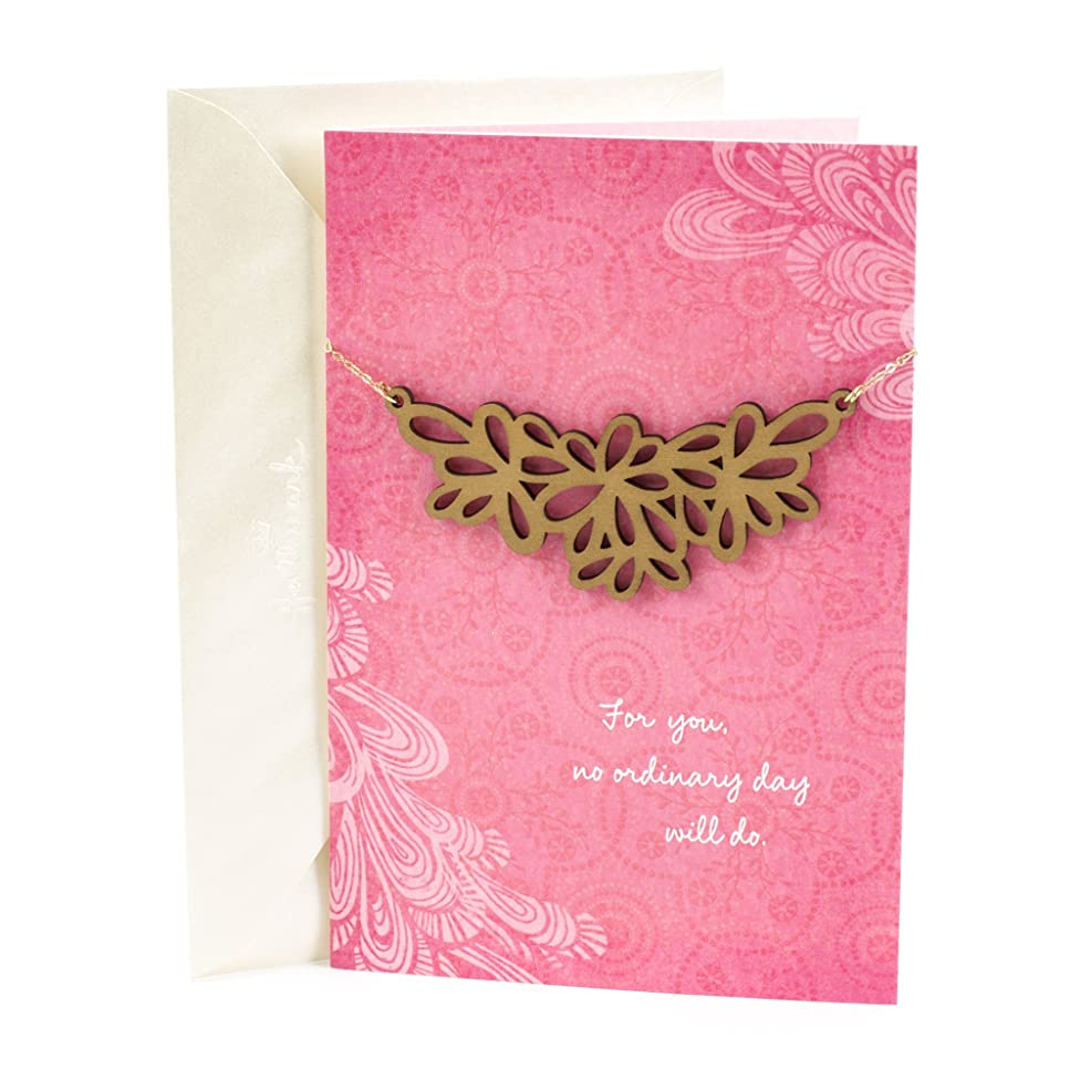 Hallmark Signature Mother's Day Card or Birthday Card for Women (Removable Wooden Necklace, No Ordinary Day)