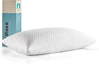 lunaoo Premium Shredded Memory Foam Pillows for Sleeping with Bamboo Washable Cover Adjustable Thickness Bed Pillows Neck Support for Back, Stomach, Side Sleepers