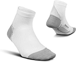 Feetures Plantar Fasciitis Relief Sock - Ultra Light - Quarter - Fresh White - X-Large