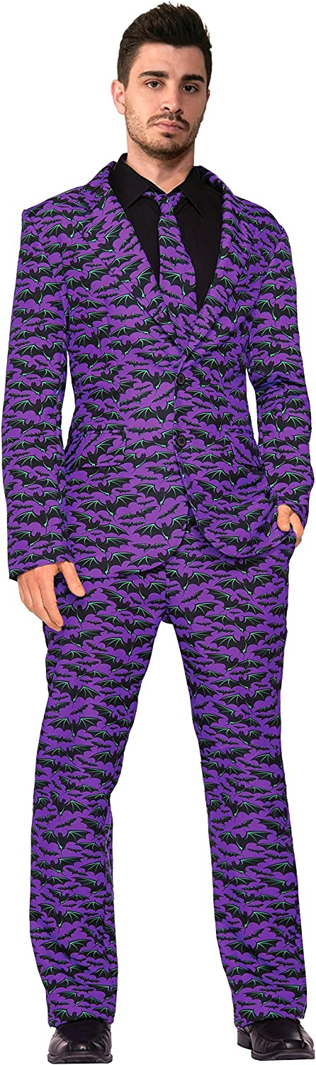 Forum Novelties Purple Bat Dress Suit & Tie XLarge Costume