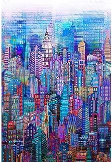 Hoffman Fabrics Blue Skylines Digital Spectrum Print