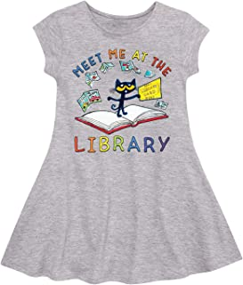 Instant Message PTC Meet Me at The Library - Toddler Fit and Flare Cap Sleeve Dress