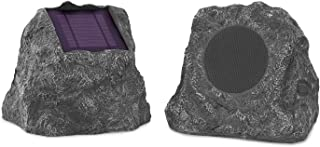 Innovative Technology Outdoor Rock Speaker Pair - Wireless Bluetooth Speakers for Garden, Patio, Waterproof, Built for all...
