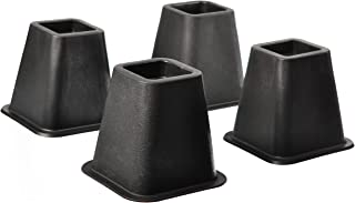 Home-it 5 to 6-inch SUPER QUALITY Black bed risers, helps you storage under the bed 4-pack (Black)