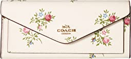 COACH - Soft Wallet in Cross Stitch Floral Print