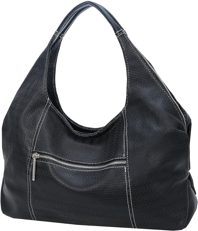HESHE Womens PU Leather Shoulder Handbags Hobo Bag Top Handle Bag Ladies Designer Purse