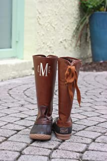 Monogrammed Tall Duck Boots