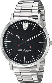 Men's Ultraleggero Quartz Watch with Stainless-Steel Strap, Silver, 20 (Model: 0830560)
