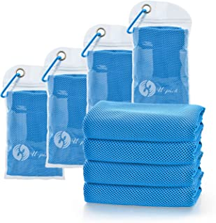 U-pick 4 Packs Cooling Towel (40x 12),  Ice Towel, Microfiber Towel, Soft Breathable Chilly Towel for Yoga, Sport, Gym, Workout, Camping, Fitness, Running, Workout&More Activities