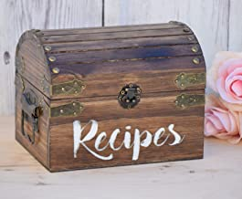 Personalized Recipe Card Box - Personalized Gift - Rustic Home Decor - Recipe Holder - Recipe Box - Recipe Card Box