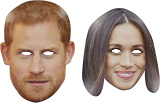 Prince Harry & Meghan Markle Royal Wedding Party Celebrity Card Face Mask
