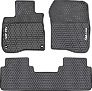 HD-Mart Car Rubber Floor Mat for Honda CR-V 5th Generation 2017-2018-2019 Custom Fit Black Auto Liner Mats All Weather, Heavy Duty & Odorless