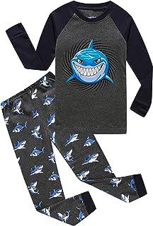 Sponsored Ad - Family Feeling Little Boys Pajamas Sets 100% Cotton Pjs Toddler Kids Pj
