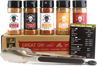 Flavor Brigade Gourmet Grilling Spices Gift Set for Guys, Dad, Men, BBQ Grill Accesories, Smoker, Seasonings, Rub, Steak, ...
