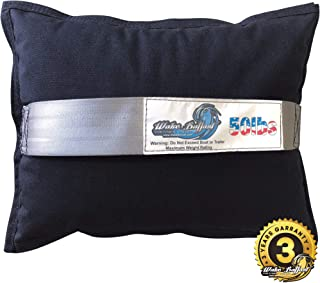 WAKE BALLAST Steel Shot Bag (50 Lb.) for Wakesurf Boats, Makes The Best Waves for Wake Surfing, Wakeboard, Uses Non-Toxic Pellets, Made of Durable 1000D Cordura Nylon, 3 Year Warranty, Made in USA