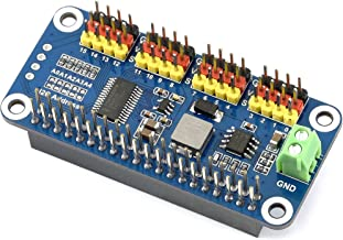 waveshare Servo Driver Hat for Raspberry Pi 3B+ 3B 2B Zero WH Zero W Zero 16 Channel PWM Outputs 12 Bit Resolution I2C Interface