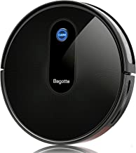 Aspirateur Robot, Bagotte 3 en 1 Robot Aspirateur Laveur 6 Modes de Nettoyage, 600ml Capacité, 1500Pa, 100Mins Autonomie e...