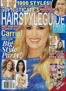 Sophisticate`s Hairstyle Guide Magazine December 2019 Carrie Underwood