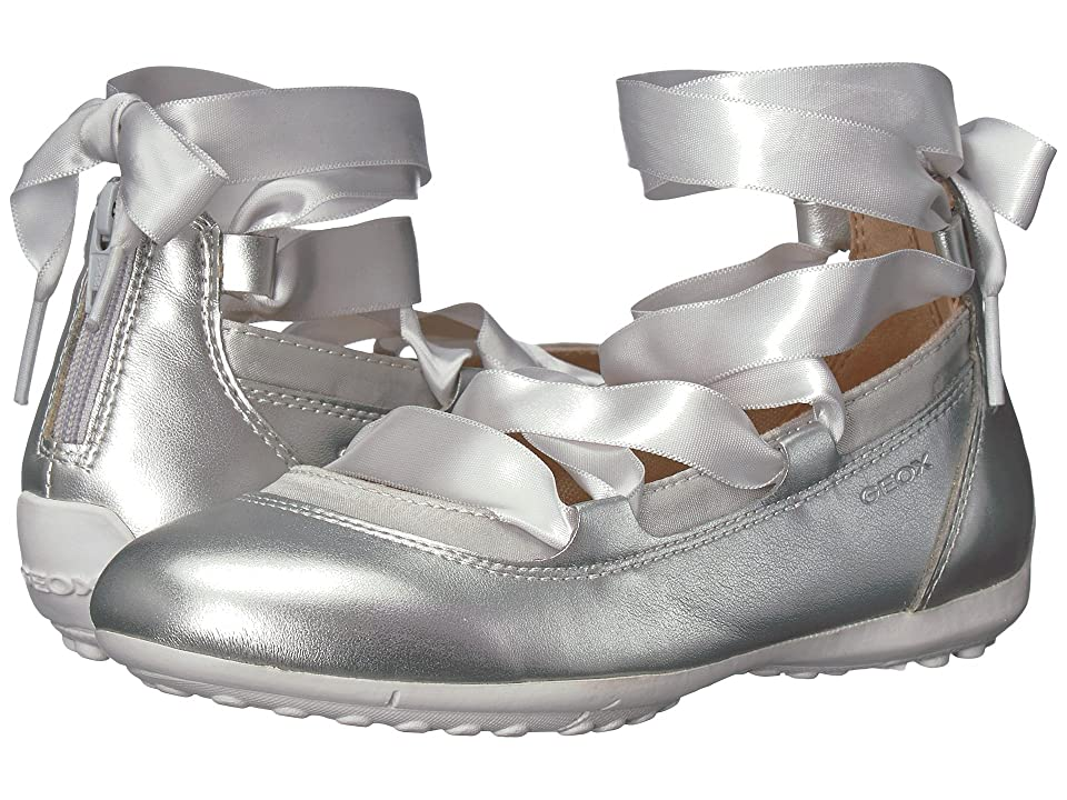 Geox Kids Piuma 64 (Little Kid) (Silver) Girl