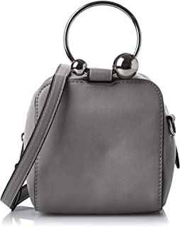 حقيبة للنساء بلون رمادي من ناين ويست - حقائب طويلة تمر بالجسم